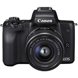 Canon EOS M50 Mirrorless Camera With EF-M 15-45mm IS STM Lens - Black thumbnail
